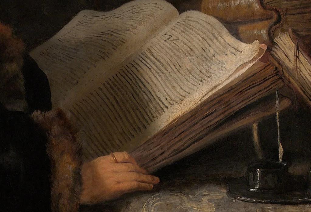 rembrandt scholar in study